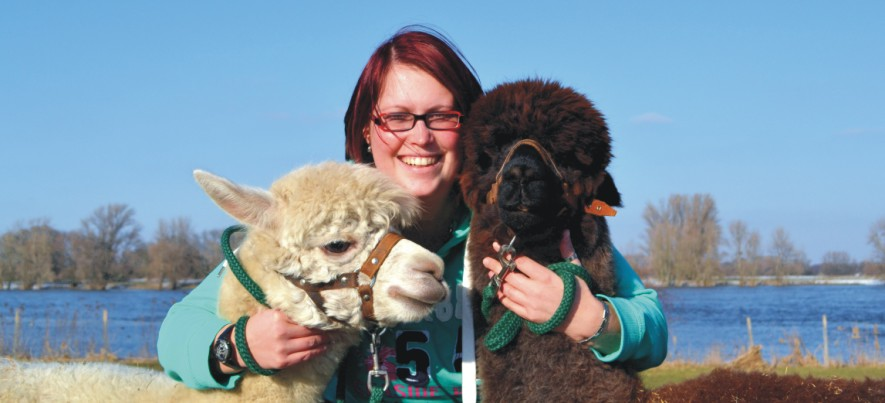 Tiergestützte Therapie Alpaka .....